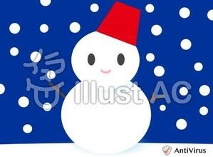 イラストAC「雪だるま」01