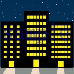 イラストレイン「ビル街(夜)」