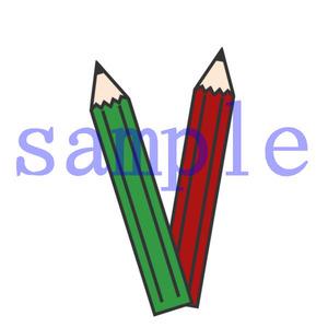 イラストレイン「2本の鉛筆」