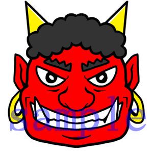 イラストレイン「鬼の顔02」