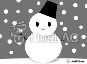 イラストAC「雪だるま」04