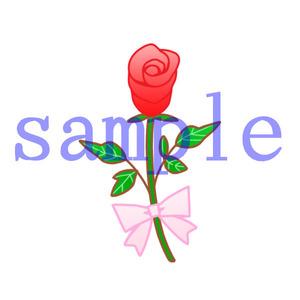 イラストレイン「つぼみの薔薇」