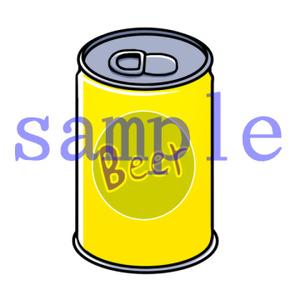 イラストレイン「缶ビール」