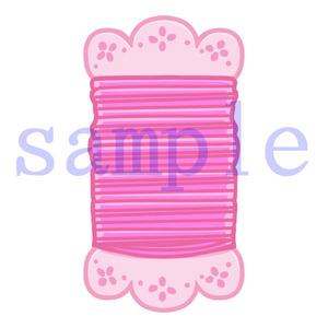イラストレイン「ピンクの糸」
