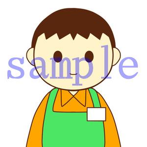 イラストレイン「介護スタッフ(男性)」01