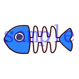 イラストレイン「魚の骨」