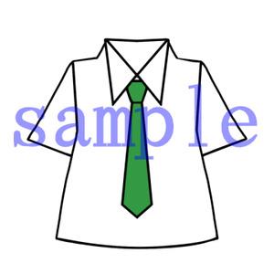 イラストレイン「ネクタイ付きのシャツ」