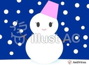 イラストAC「雪だるま」02
