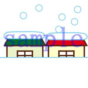 イラストレイン「積雪」
