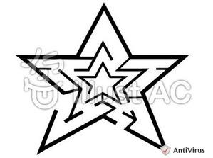 イラストAC「星の迷路」