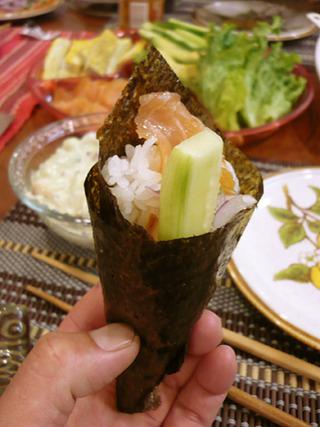 手巻き寿司だじぇえ〜!!