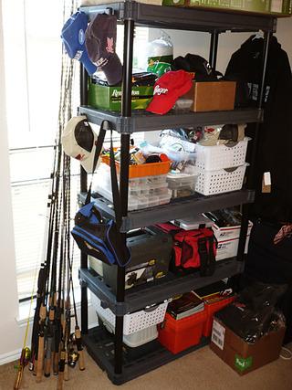 予想通り、釣具整理棚に・・・