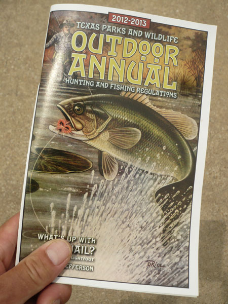 The die is cast outdoor annual hunting fishing for Texas fishing laws