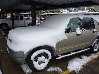 3月21日、テキサスで積雪再び・・・