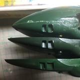 9 2号比較 機首下部窓