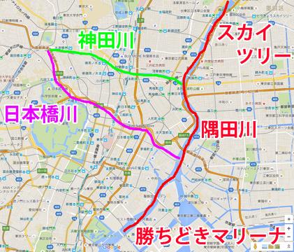 大江戸クルージングmap