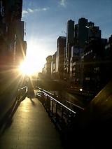 道頓堀の夕焼け