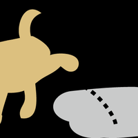 犬 おしっこ イラスト~2