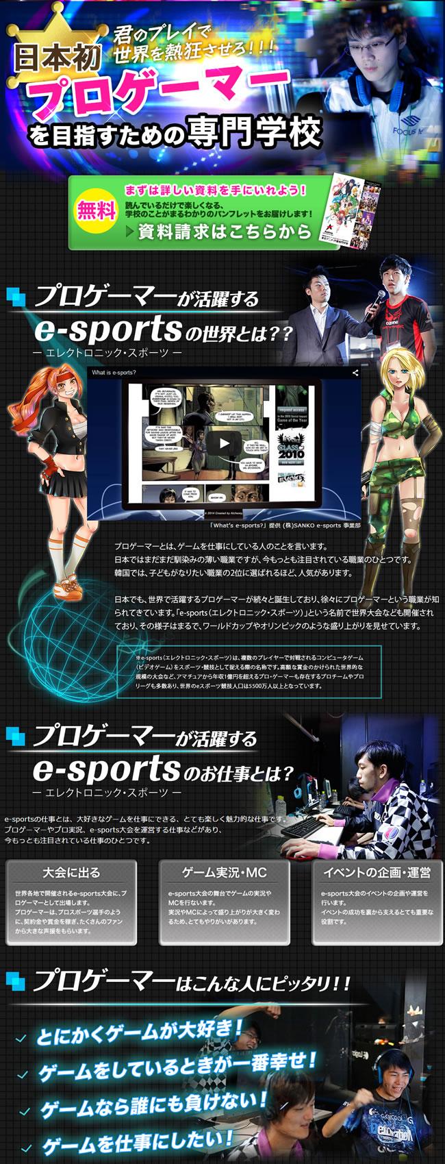 東京アニメ・e sports プロフェッショナルゲーマーワールド