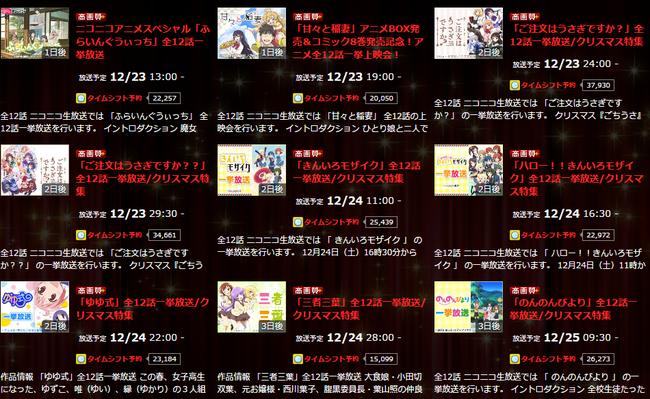 ニコニコアニメスペシャル   ニコニコチャンネル アニメ