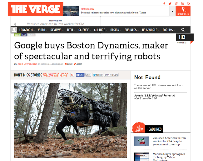 Google buys Boston Dynamics