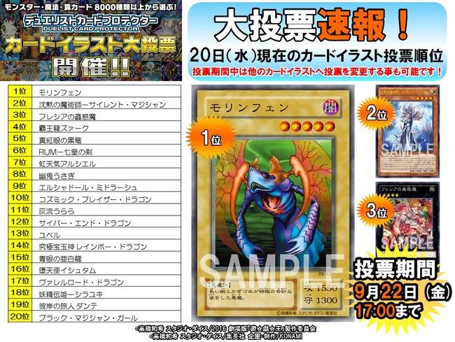 【悲報】 遊戯王さん、貴重なスリーブ化の人気投票で意味不明なカードが1位になってしまう