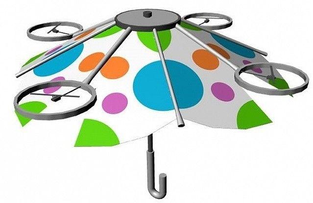 【朗報】手で持つ必要がない傘「free Parasol」開発中