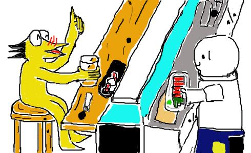 彡(゜)(゜)「お、いつもの居酒屋やんけ。入ったろ」