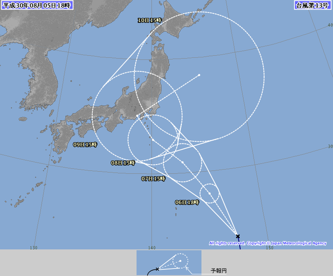 【悲報】 台風13号さん、東京直撃へ