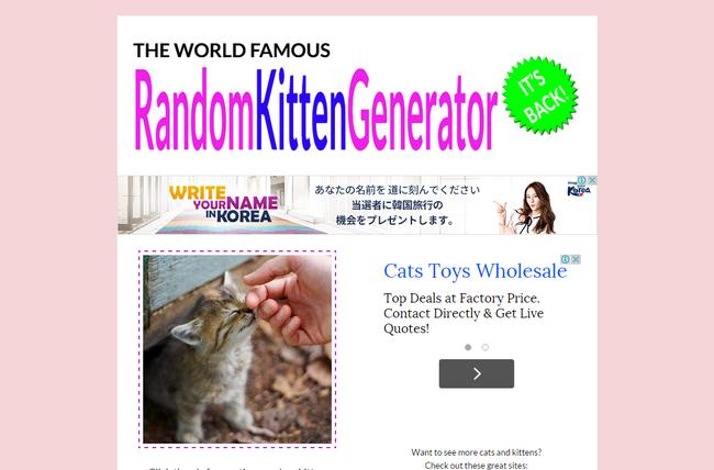 The Random Kitten Generator