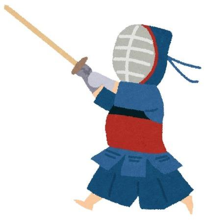 剣士「小手ぇ~!コテコテコテコテコテコテコテコテ…(旗上げるまで言うで(審判ガンミー))」審判「!(バサッ)」