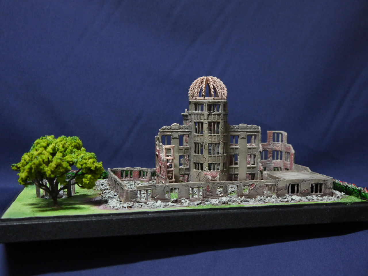 世界遺産「原爆ドーム」 プラモデル(縮尺250  原爆ドーム