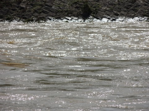 川で子供が