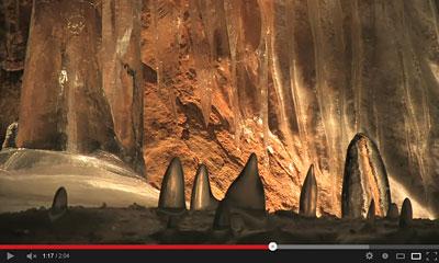 youtube動画の洞窟の画像
