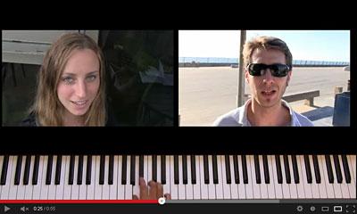 youtube動画のピアノの画像