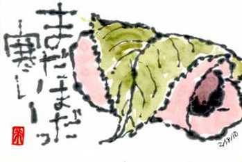 021910 絵手紙桜餅