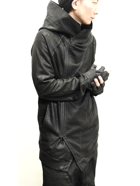 JULIUS coated zipup parka 通販 GORDINI008