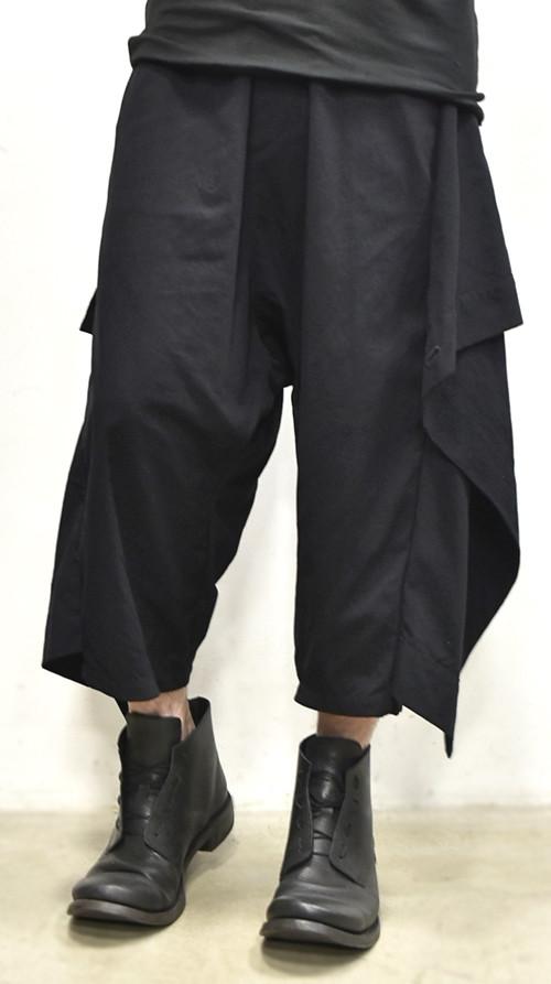 JULIUS wrap pants blk 通販 GORDINI006