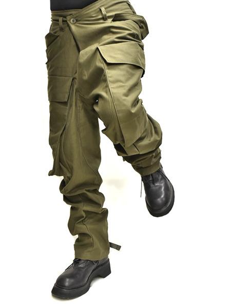 JULIUS baggy cargo khaki 着用 通販 GORDINI009