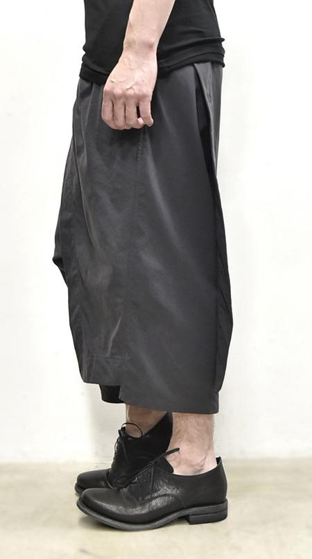 JULIUS wrap pants blk 通販 GORDINI014