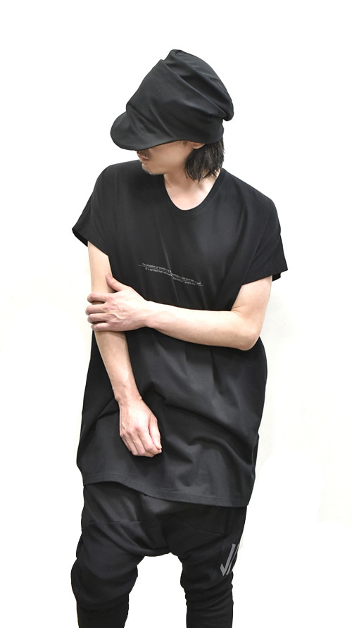 """NILøS Back """"家紋"""" T-Shirt 着用 通販 GORDINI006"""
