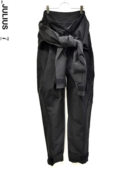 JULIUS sleeve pants black 通販 GORDINI006