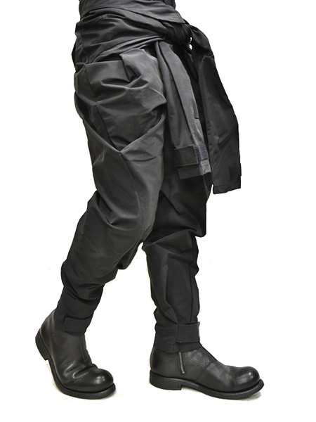 JULIUS Jumpsuit pants black 着用 通販 GORDINI007