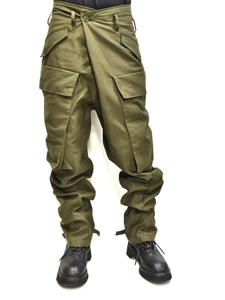 JULIUS baggy cargo khaki 着用 通販 GORDINI001