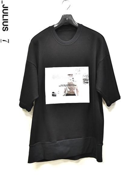 JULIUS waffle print T 通販 GORDINI001