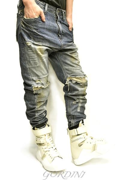 JULIUS rider pants indigo 通販 GORDINI015のコピー
