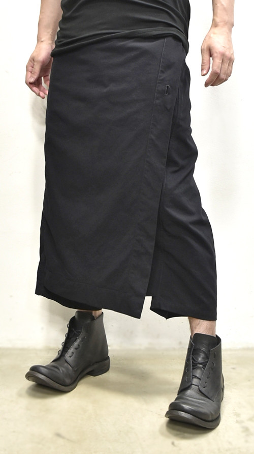 JULIUS wrap pants blk 通販 GORDINI007