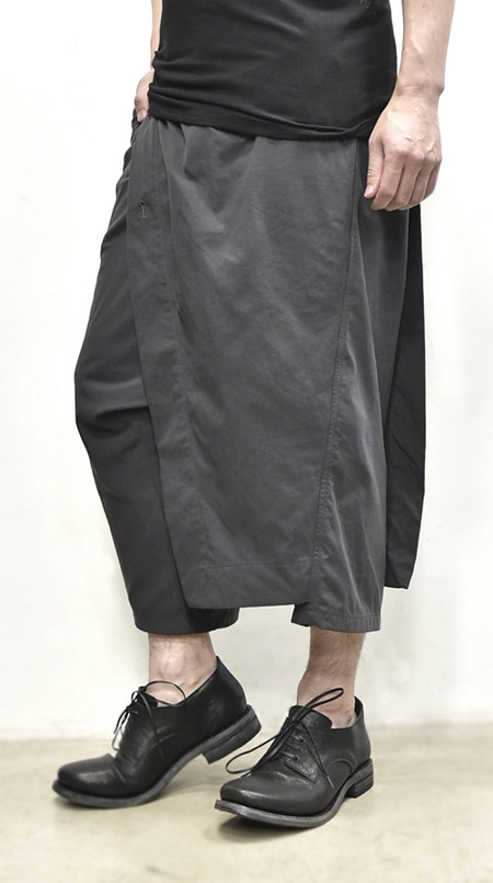 JULIUS wrap pants blk 通販 GORDINI013