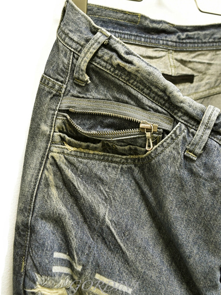 JULIUS rider pants indigo 通販 GORDINI003のコピー