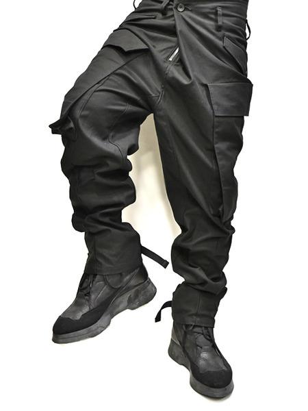 JULIUS baggy cargo black 着用 通販 GORDINI007